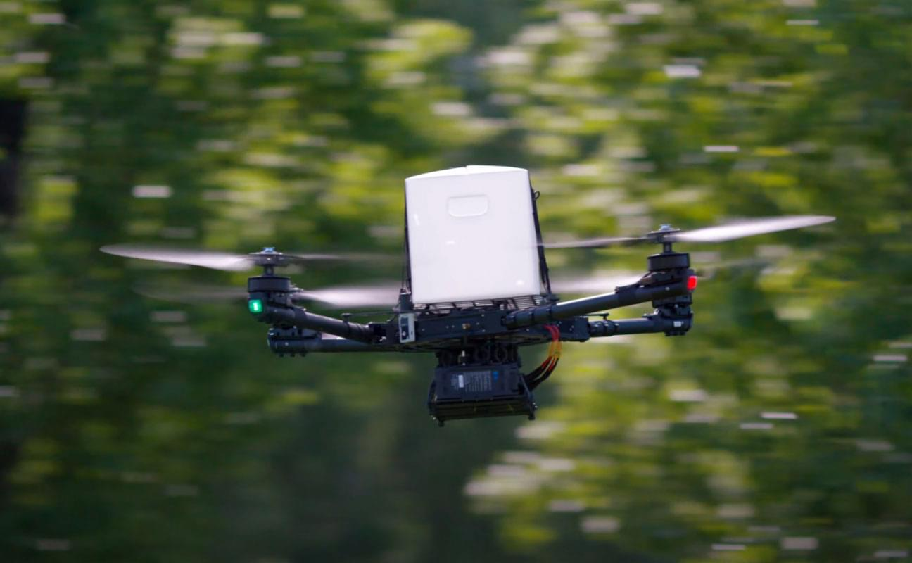 Custom Drone Payload: Top Mounted Delivery Container